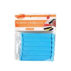 Mollette clip chiudi sacchetti 12 cm. - Conf. 6 pz.