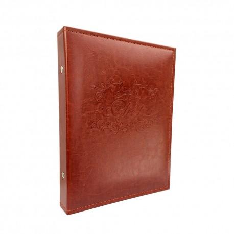 Album portafoto in eco pelle con pagine adesive