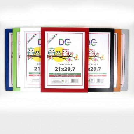 A4 Cornice 21x29,7 cm. in fibra di legno ecologico e crilex antinfortunistico - cornici leggerissime in plexiglass.