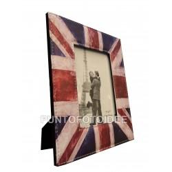 Cornice Portafoto 10x15 cm. da Tavolo in Ecopelle - Bandiera UK