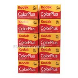 Rullino Kodak Color Plus 200/24 Conf. da 10 pz. - Pellicola Kodak Color Plus