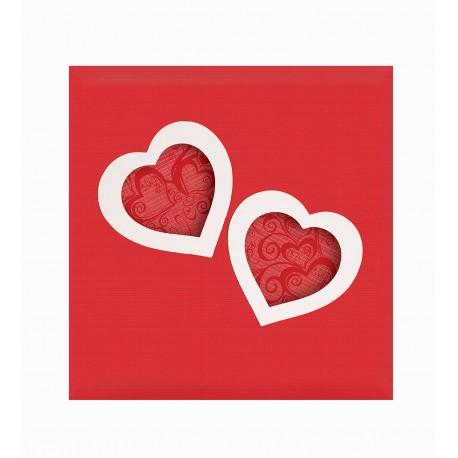 Album Fotografico a tasche 200 foto 13x19 portafoto heart con cuori
