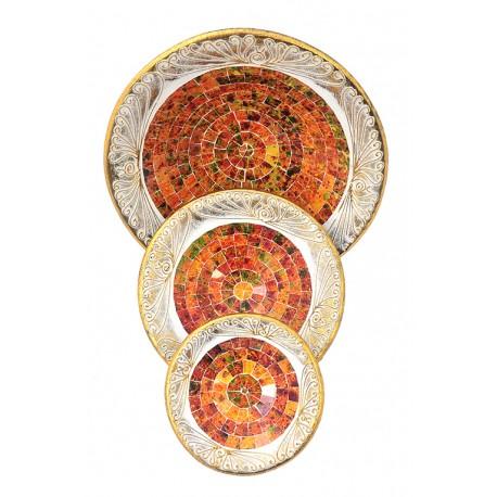 Trittico Vassoi Mosaico Orange