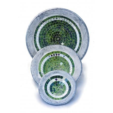 Trittico Vassoi Mosaico Green