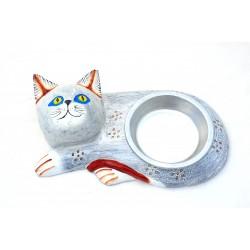 Porta Ciotola Artigianale per Gatto