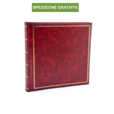 Album fotografico Classic di ottima fattura in ecopelle a tasche 10x15 per 500 foto con memo - Bordeaux