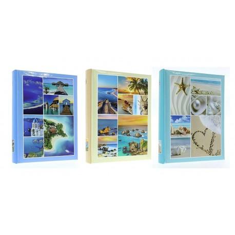 Album fotografico Proteo a tasche 10x15 per 300 foto con memo - portafoto Mare - Varie grafiche - 1pz.