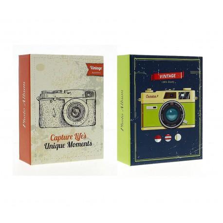 Album fotografico Camera Vintage a tasche 10x15 per 300 foto, Vari modelli, 1 pz.