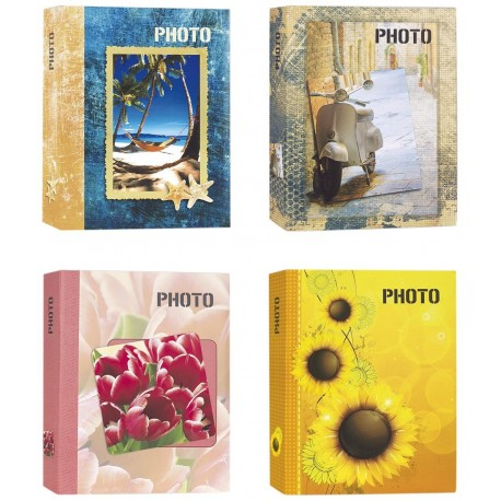 Bundle 4 Album Photo da 300 Foto Cad. - 1200 Foto 13x19 13x18 13x17 - Portafoto a Tasche con Memo in Varie Fantasie