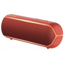 Sony SRS-XB22 Speaker Compatto Portatile con Extra Bass, Resistente all'Acqua, Luminoso, Rosso