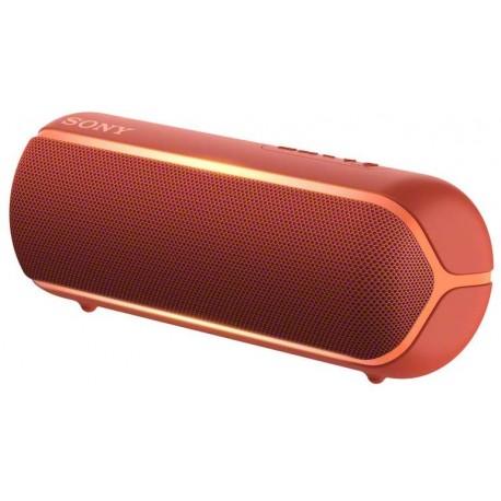 Sony SRS-XB22 Speaker Compatto Portatile con Extra Bass, Resistente all'Acqua, Luminoso, Rosso
