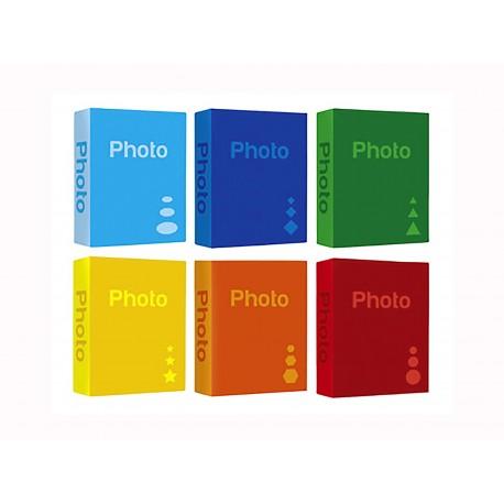 Album Fotografico 100 foto a tasche 13x19 pagine nere - portafoto senza memo