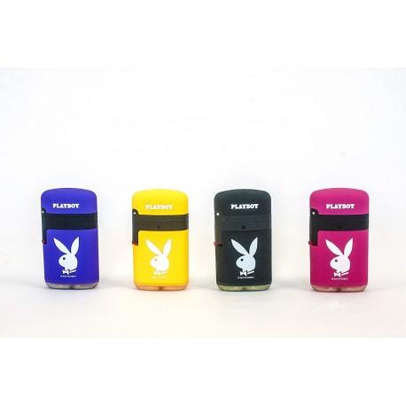 Accendino serie Playboy in 4 colori diversi con Doppia Fiamma - Antivento - Ricaricabile - Conf. 4 pz.