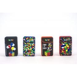 Accendino Serie Rubik's in 4 grafiche Diverse - Ricaricabile - Conf. 4 pz.