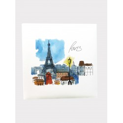 Album fotografico Parigi a tasche 10x15 per 200 foto con memo - portafoto Paris