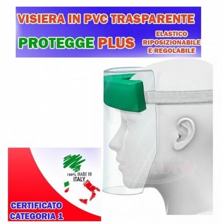 VISIERA PROTETTIVA TRASPARENTE CM 20 x 30 - DPI E ULTRA CLEAN IN PVC