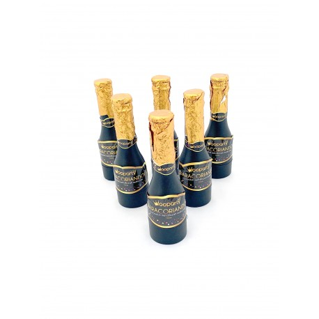 6 Sparacoriandoli per Party Festa Compleanno Capodanno - Bottiglia 16 cm - 6 pz.