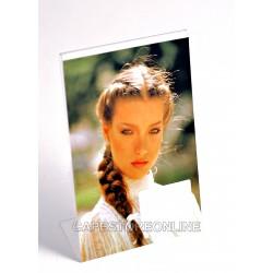 Cornici portafoto espositori in plexiglass da tavolo - Verticale - Varie misure - Conf. 12 pz.