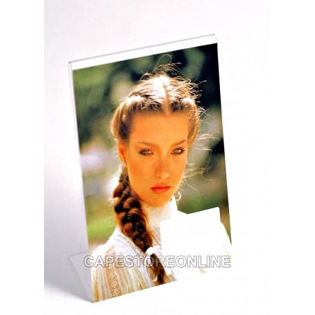 Pacco 12 Cornici Portafoto Espositore in Plexiglass da Tavolo Verticale Varie Misure