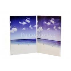 Cornice doppia verticale - portafoto espositore in plexiglass da tavolo - Varie misure - Conf. 12 pz.