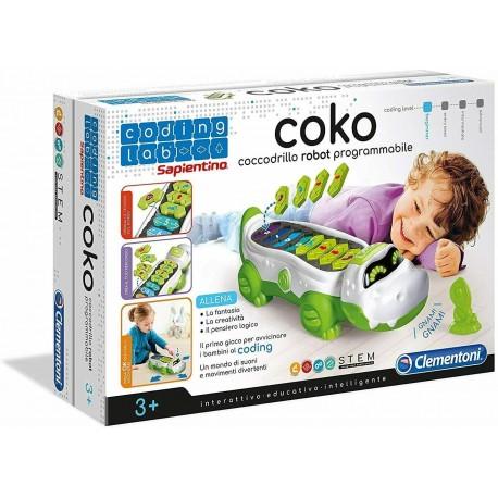 Clementoni - 12092 - Coding Lab - Coko, Coccodrillo Programmabile Multicolore
