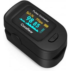 CocoBear Pulsossimetro da dito - Saturimetro professionale con display OLED