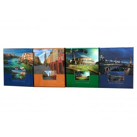 Album fotografico Viaggi per 40 foto a tasche 10x15 con copertina rigida + scatola - 1 pz.