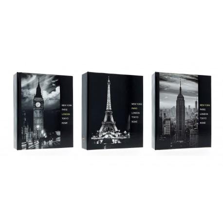Album Fotografico City 36 Foto a Tasche 10x15 cm - Albumino portafoto Viaggi - Varie grafiche - 1 pz.