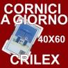 3 Cornici a Giorno 40x60 in Crilex Antinfortunistico, Ultra- Trasparente e Leggero - Cornice in Crilex 40x60 - Pacco da 3 Pz.