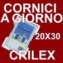 12 Cornici a Giorno 20x30 in Crilex Antinfortunistico, Ultra- Trasparente e Leggero - Cornice in Crilex 20x30 - Conf. da 12 Pz.