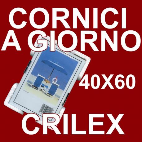 2 Cornici a Giorno 40x60 in Crilex Antinfortunistico, Ultra- Trasparente e Leggero - Cornice in Crilex 40x60 - Pacco da 2 Pz.