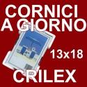 12 Cornici a Giorno 13x18 in Crilex Antinfortunistico, Ultra- Trasparente e Leggero - Cornice 13x18 cm. - Conf. da 12 Pz.