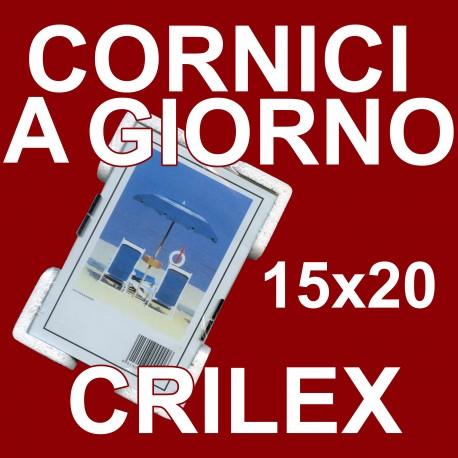 2 Cornici a Giorno 15x20 in Crilex Antinfortunistico, Ultra- Trasparente e Leggero - Cornice in Crilex 15x20 - Conf. da 2 Pz.