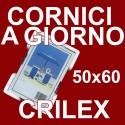2 Cornici a Giorno 50x60 in Crilex Antinfortunistico, Ultra- Trasparente e Leggero - Cornice in Crilex 50x60 - Conf. da 2 Pz.