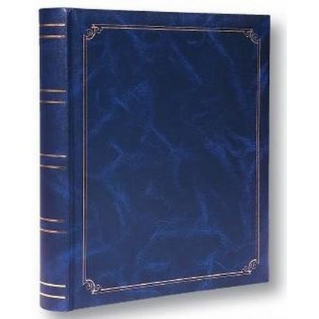 Foto Album classico in ecopelle a foglio libero, 100 pagine Blu
