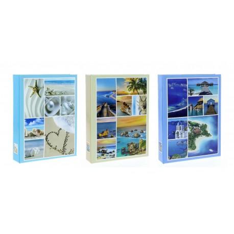 Album Fotografico Sea a Tasche 10x15 per 200 foto con Memo, Portafoto Tema Mare