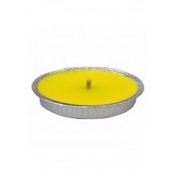10 Candele Antivento Profumate alla Citronella in Alluminio 14 cm Anti Zanzare