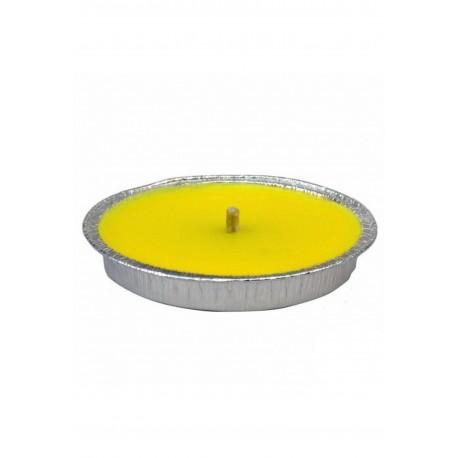 Candela Antivento Profumata alla Citronella in Alluminio 14cm Antizanzare
