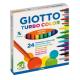 24 Pennarelli colorati Giotto Turbo Color a punta fine per scuola bambini