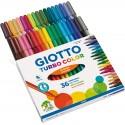 36 Pennarelli colorati Giotto Turbo Color a punta fine per scuola bambini
