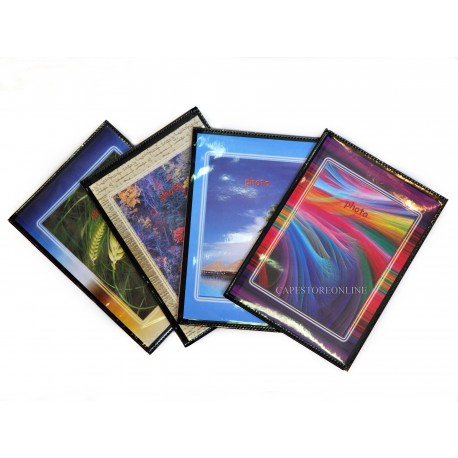 50 Album fotografici personalizzabili fronte/retro a tasche 12x18 cm per 200 foto ( 40 foto cad.)