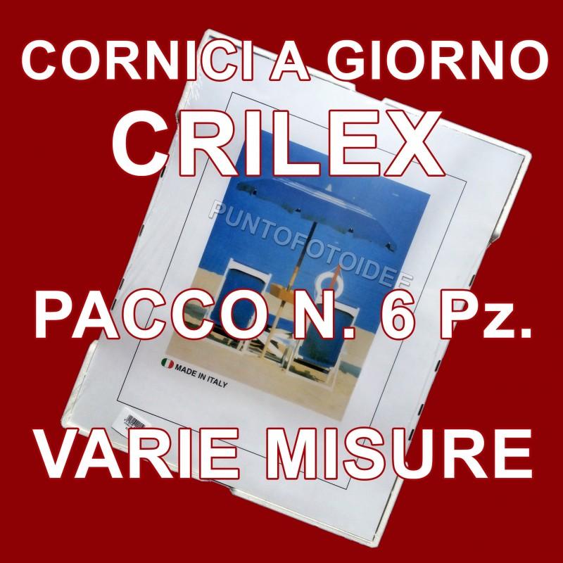 Cornici a giorno in crilex pacco da 6 pz portafoto in for Cornici a giorno misure standard