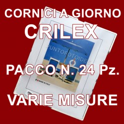 Cornici a giorno IN CRILEX - PACCO da 24 Pz. - varie misure