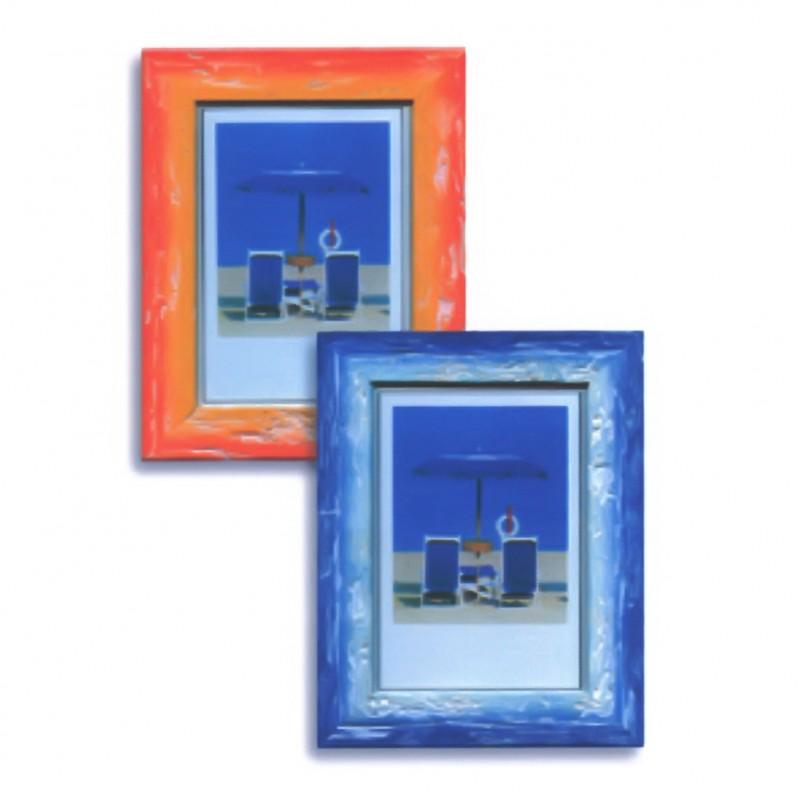 Cornice in legno e vetro 30x40 picasso portafoto da parete for Portafoto verticale da parete