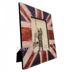 Cornice Portafoto 13x18 cm. da Tavolo in Ecopelle Bandiera UK