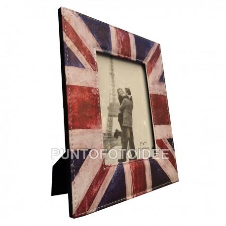 Cornice Portafoto 13x18 cm. da Tavolo in Ecopelle Bandiera USA