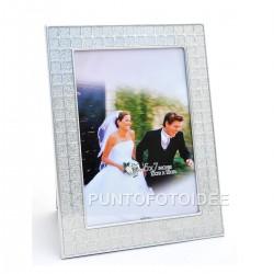 Cornice porta foto da tavolo in metallo cm. 13x18