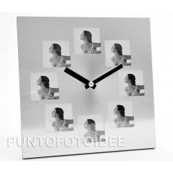 Orologio portafoto da tavolo personalizzabile con 8 foto