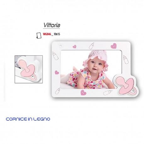 """Cornice in legno """"VITTORIA"""" formato foto 10x15"""