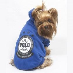 Felpa Blu Polo Club per Cane
